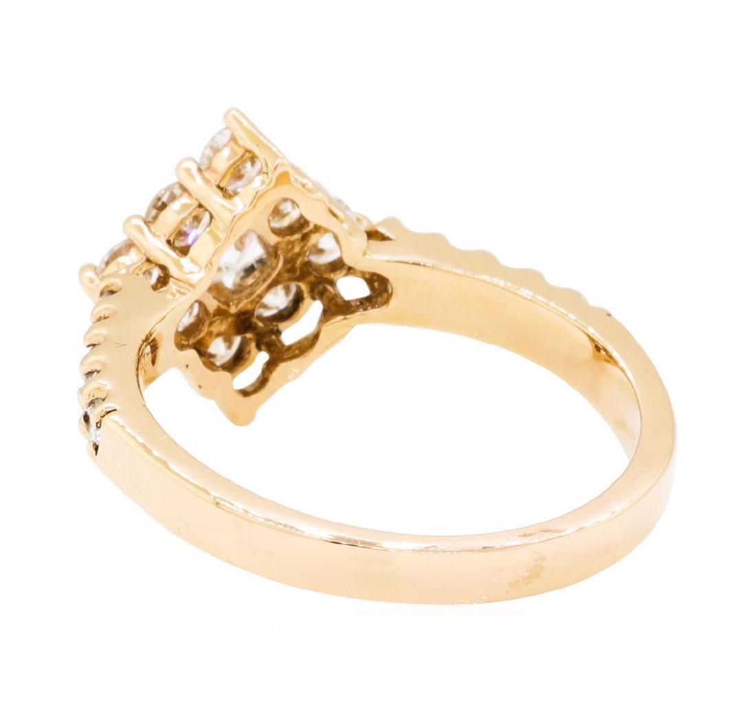 0.75 ctw Diamond Ring - 14KT Rose Gold - 2