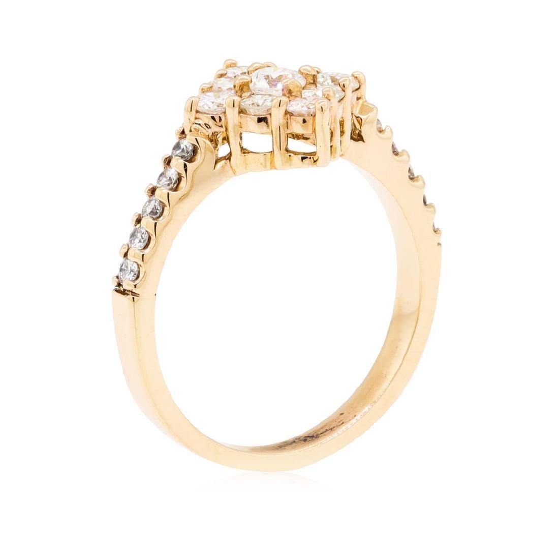 0.75 ctw Diamond Ring - 14KT Rose Gold - 3