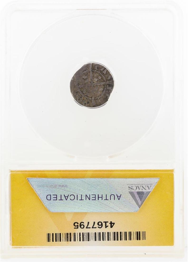 1327-1377 England Edward III AR Half Penny Coin ANACS - 2