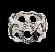 Cartier 028 ctw Diamond Ring  18KT White Gold