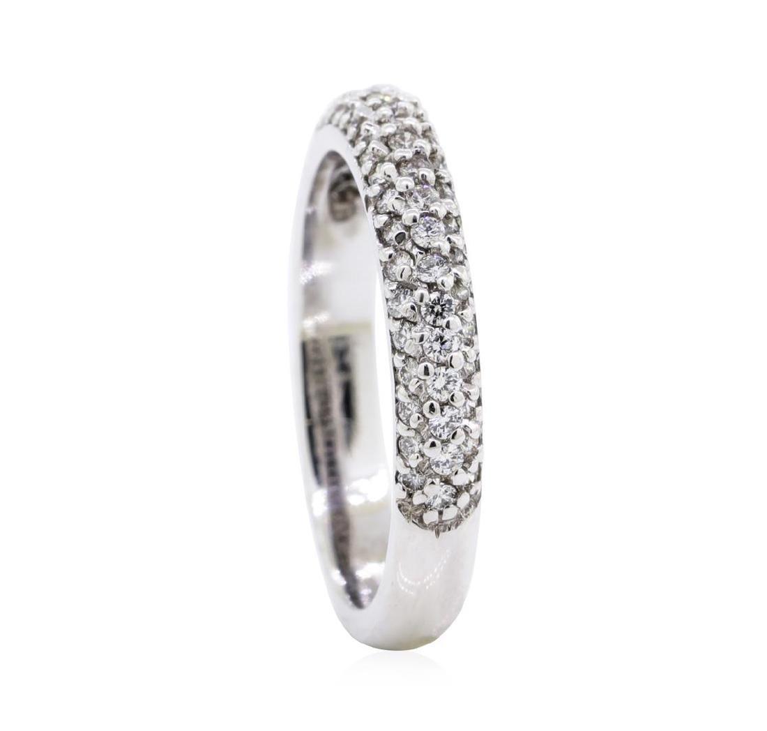 0.5 ctw Diamond Ring - 14KT White Gold - 4