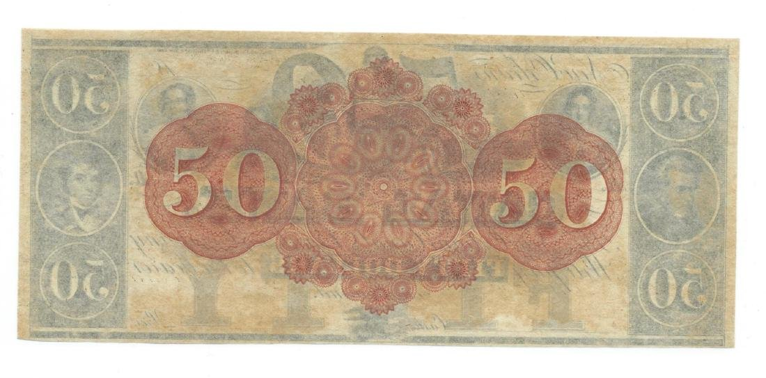 1800's $50 Canal Bank, New Orleans, LA Obsolete Bank - 2