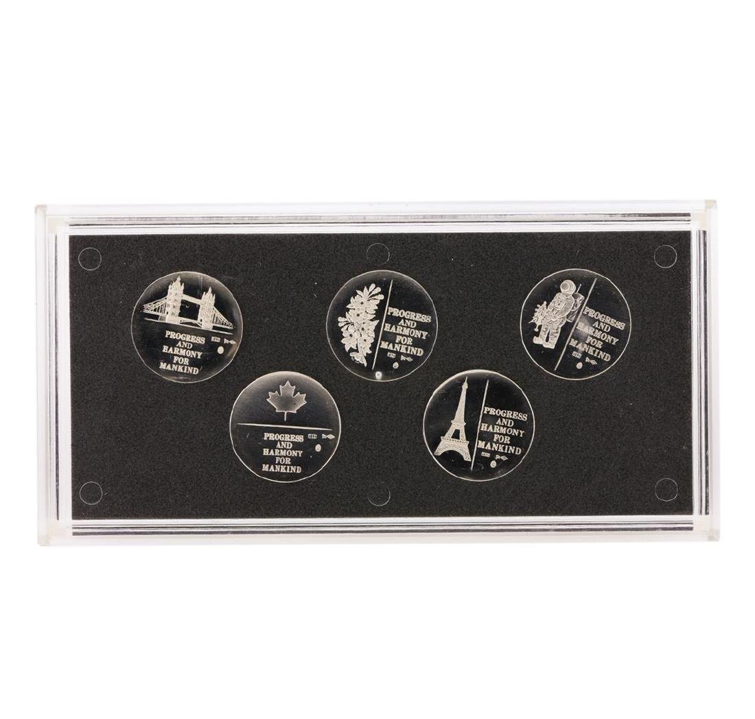 1970 Japan Osaka Expo 5 Medal Set - 2