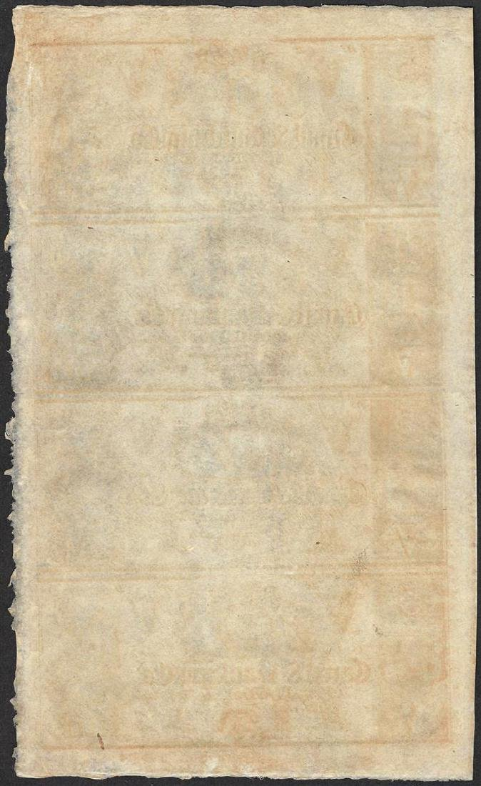 Uncut Sheet of 1800's $5 Canal & Banking Co. Obsolete - 2