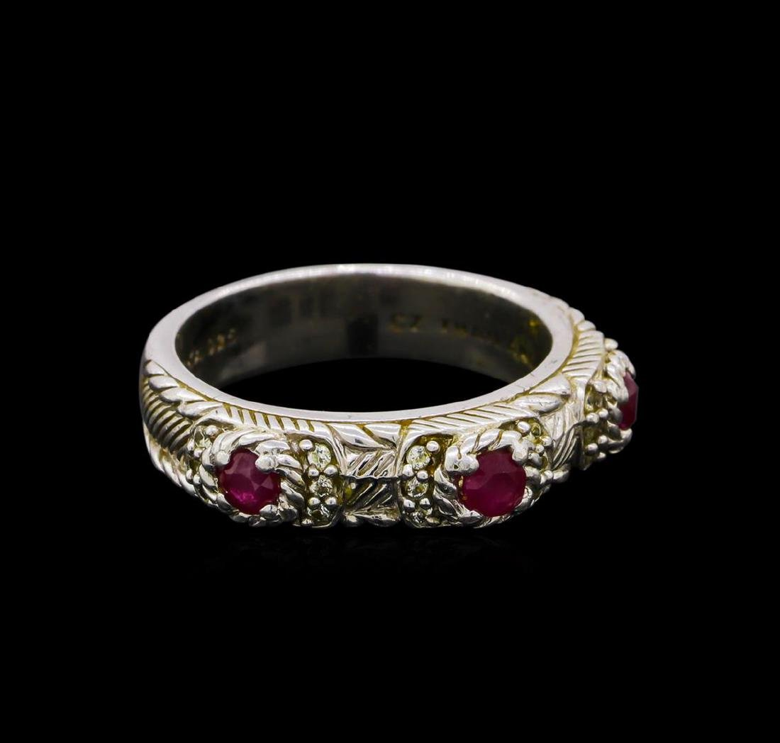 Judith Ripka Cubic Zirconia Ring - Sterling Silver