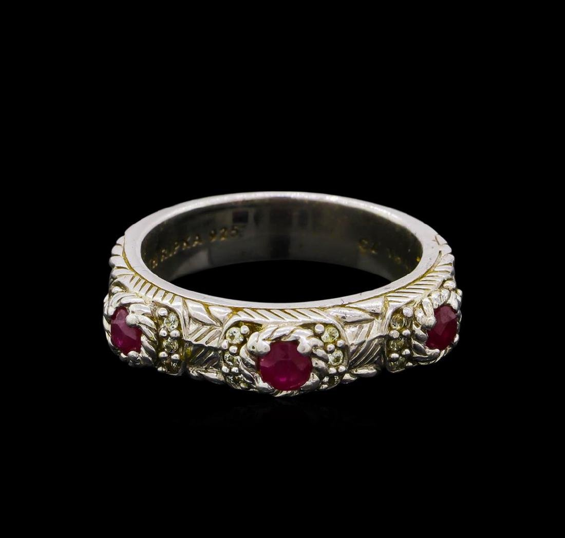 Judith Ripka Cubic Zirconia Ring - Sterling Silver - 2