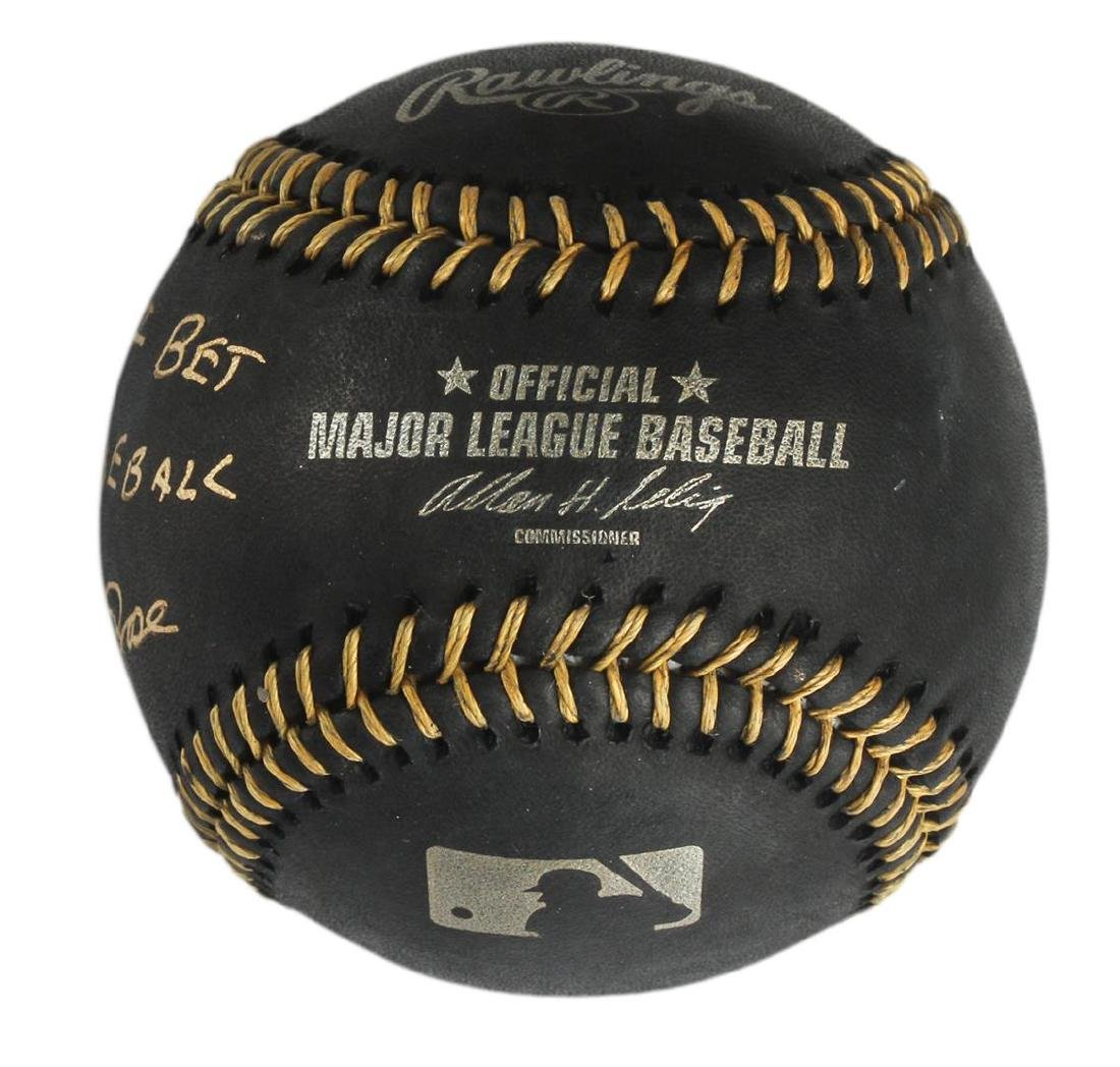 "Autographed Pete Rose ""I'm Sorry"" Black Baseball - 2"