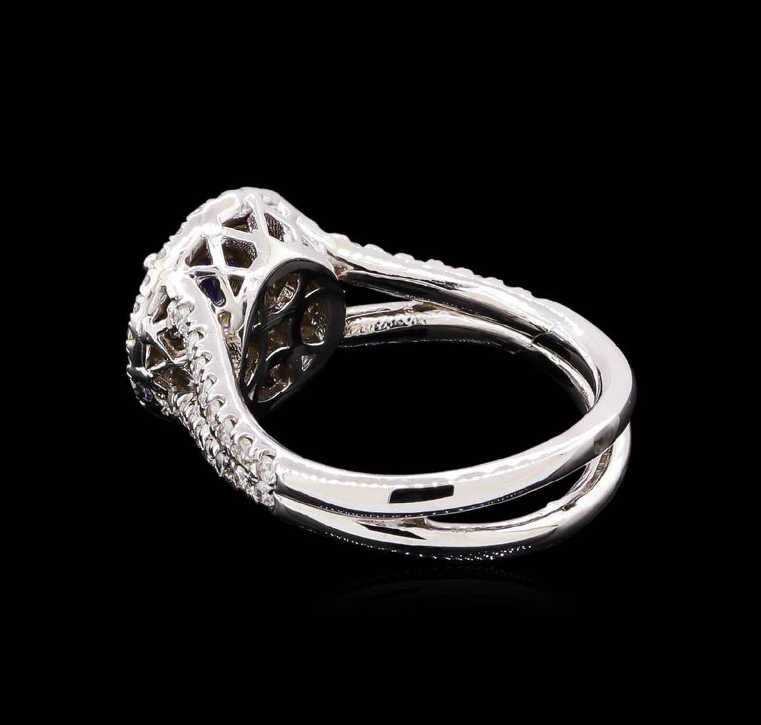 14KT White Gold 1.24 ctw Tanzanite and Diamond Ring - 3