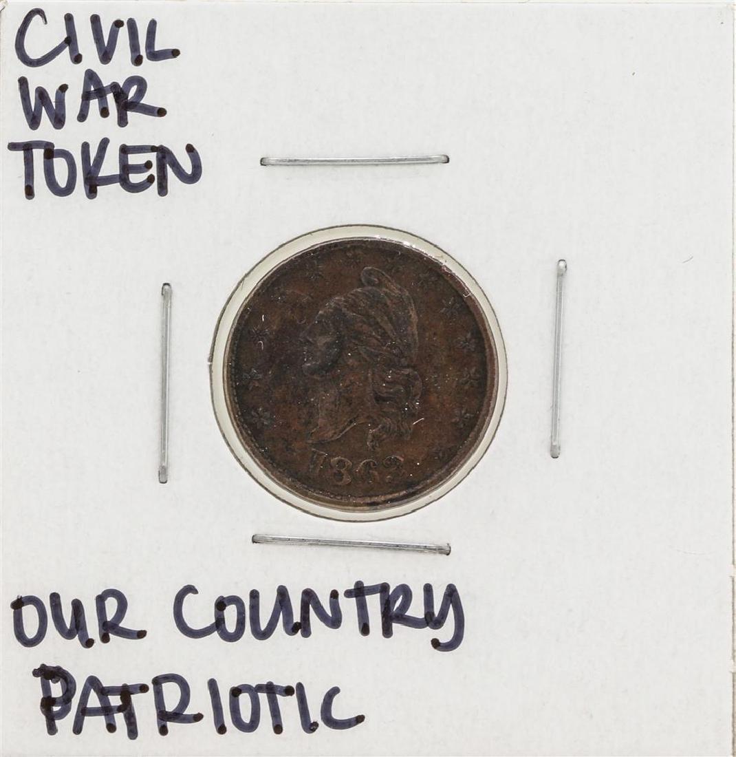 1863 Civil War Patriotic Token Our Country
