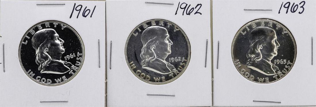 Lot of 1961-1963 Franklin Half Dollar Proof Coins