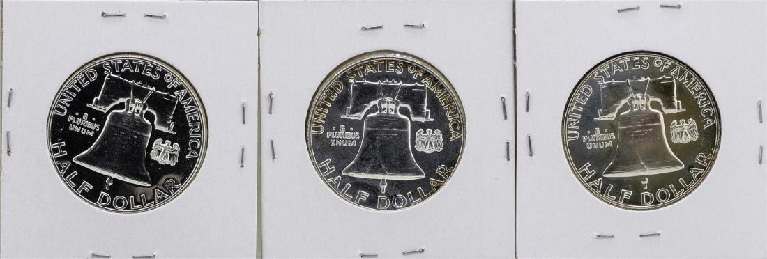 Lot of 1961-1963 Franklin Half Dollar Proof Coins - 2