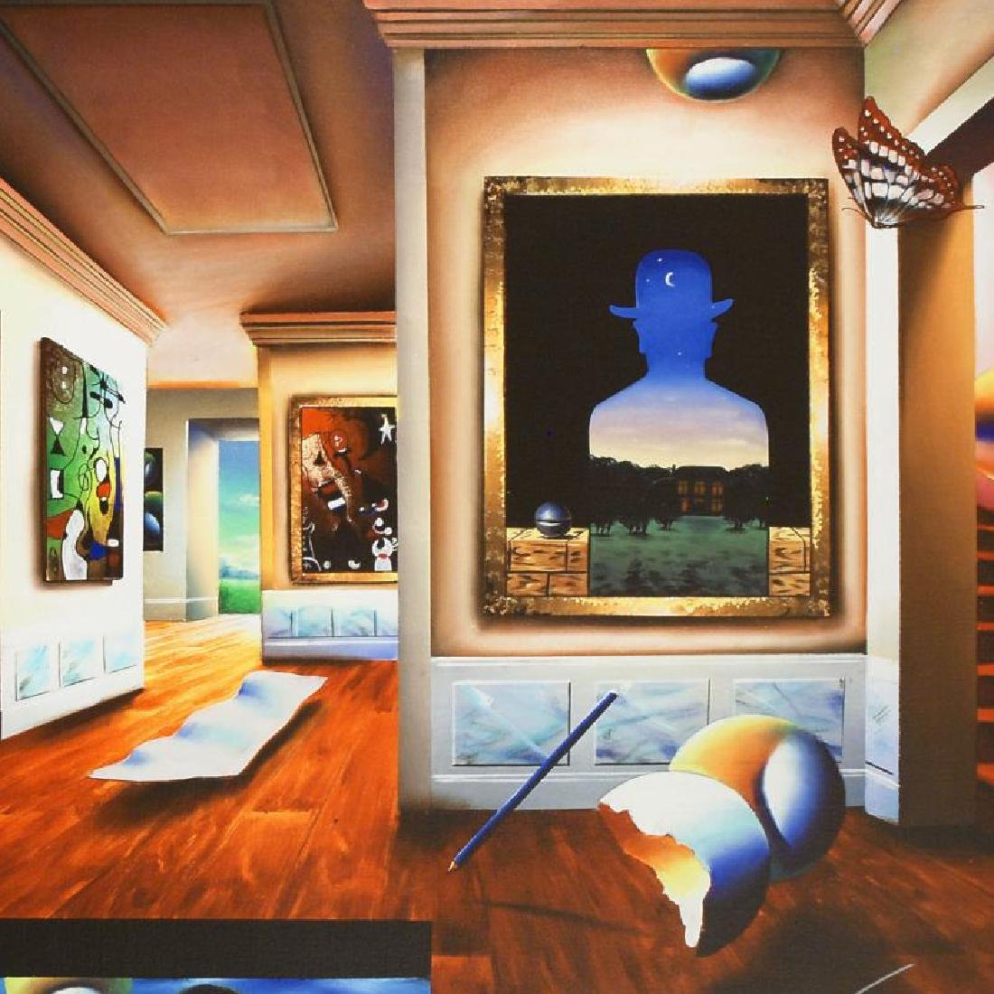 Interior with Magritte by Ferjo - 2