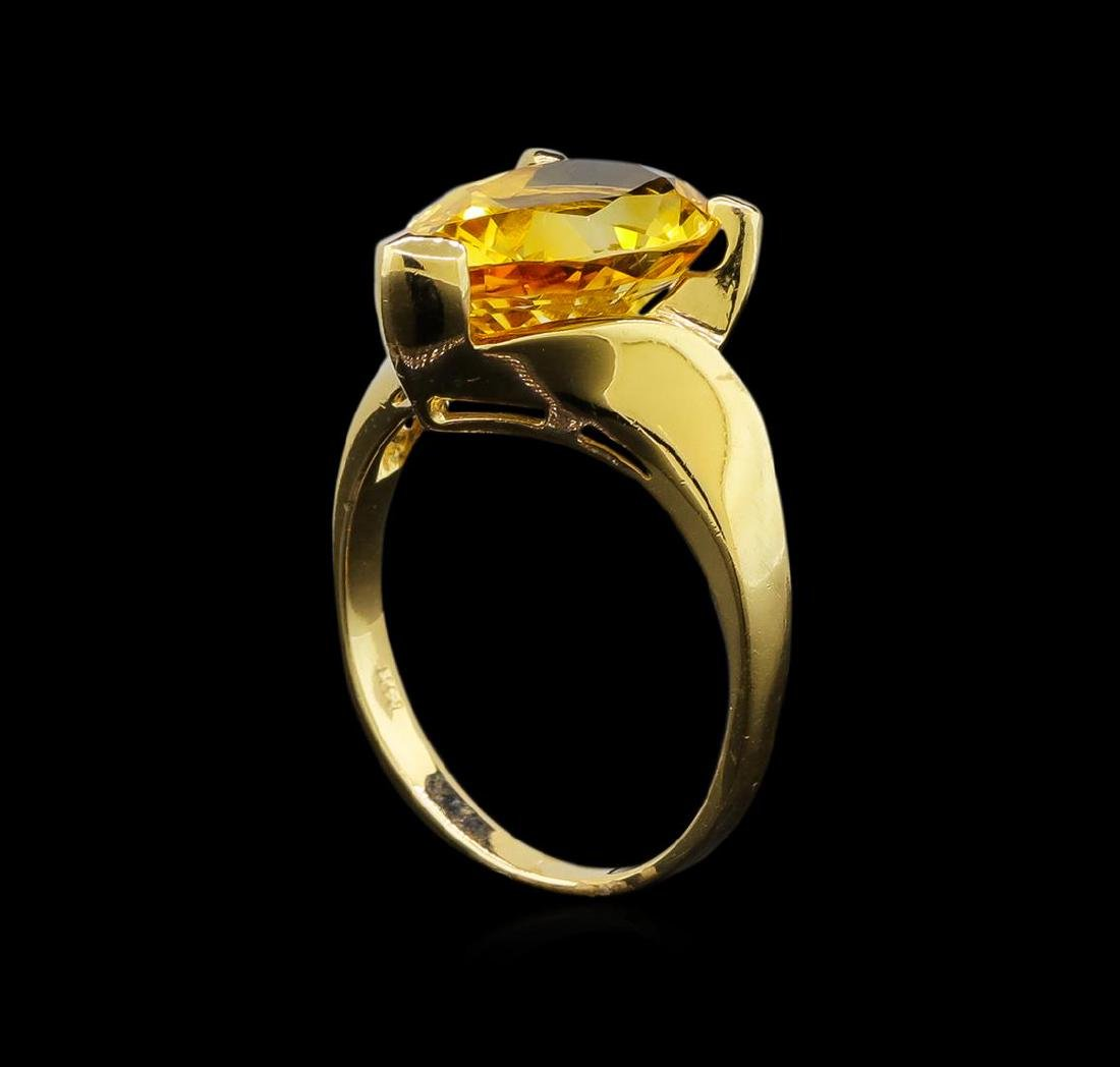 Citrine Ring - 14KT Yellow Gold - 4