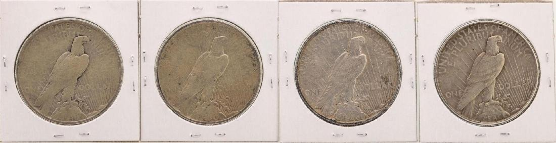 Lot of (2) 1934 & (2) 1934-S $1 Peace Silver Dollar - 2