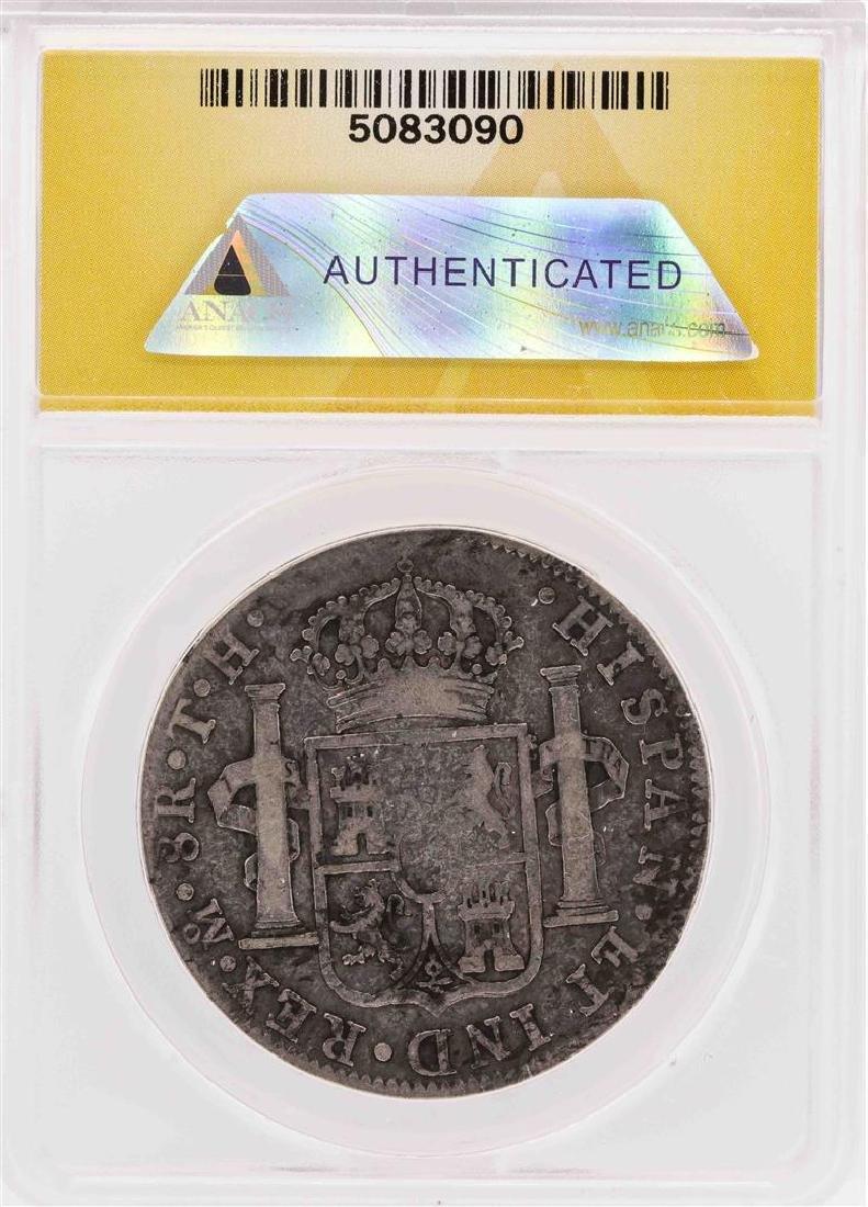 1807-Mo TH Mexico Carolus IV AR 8 Reales Silver Coin - 2