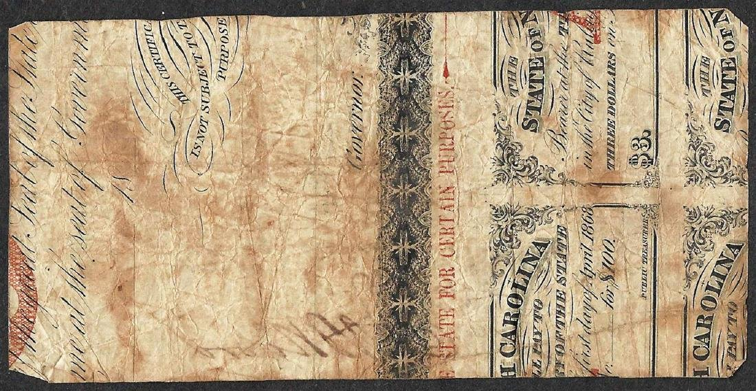 1862 Twenty-Five Cents State of North Carolina Obsolete - 2