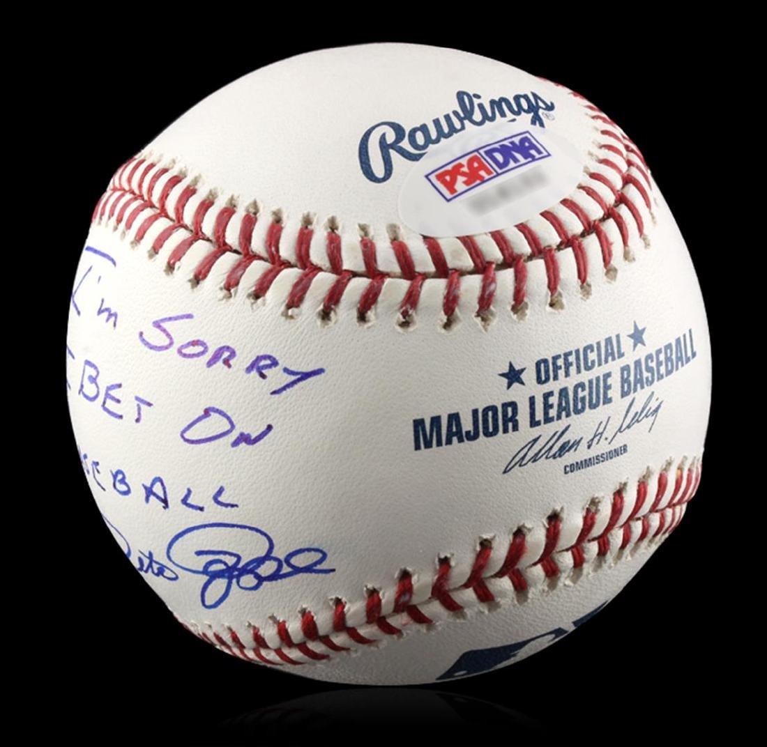 "Autographed Pete Rose ""I'm Sorry"" Baseball PSA - 2"