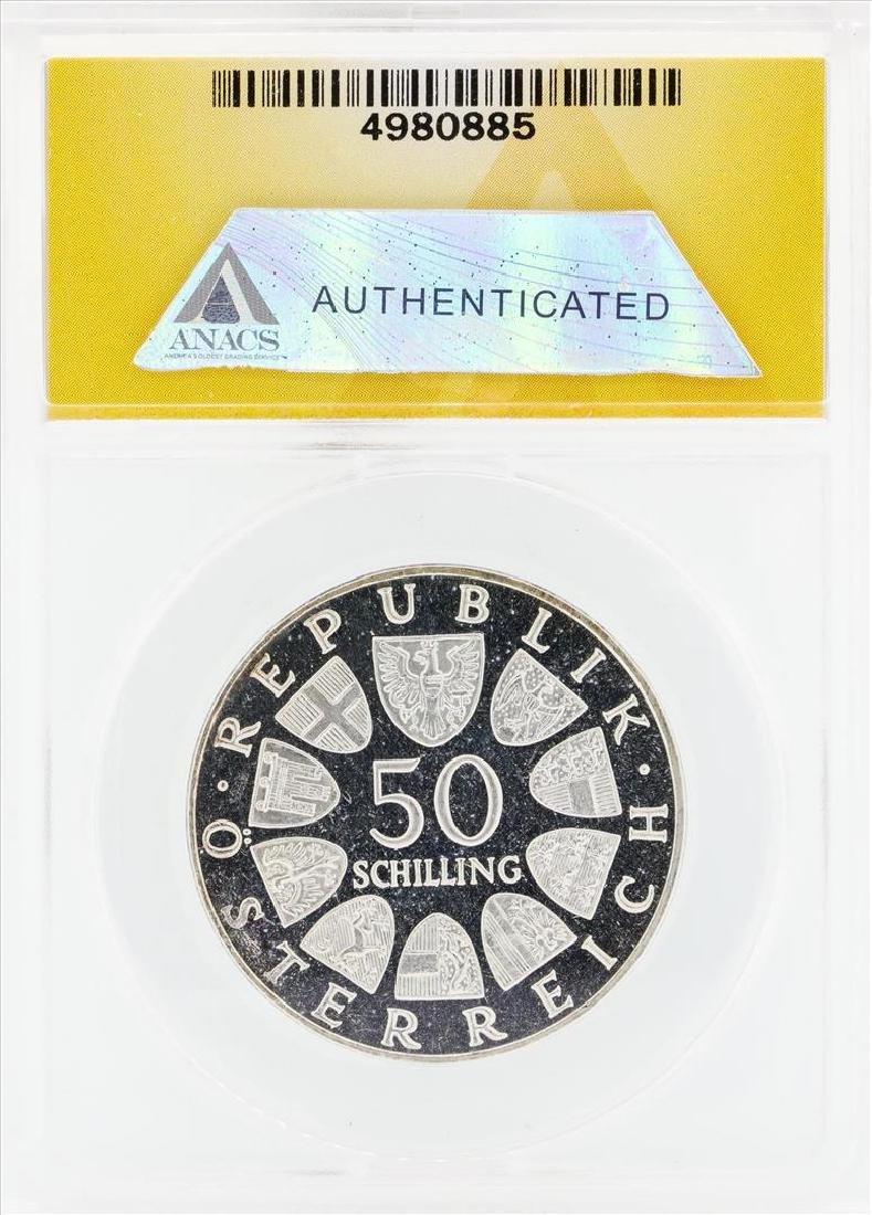 1966 Austria Proof 50 Shilling Silver Coin ANACS PF63 - 2