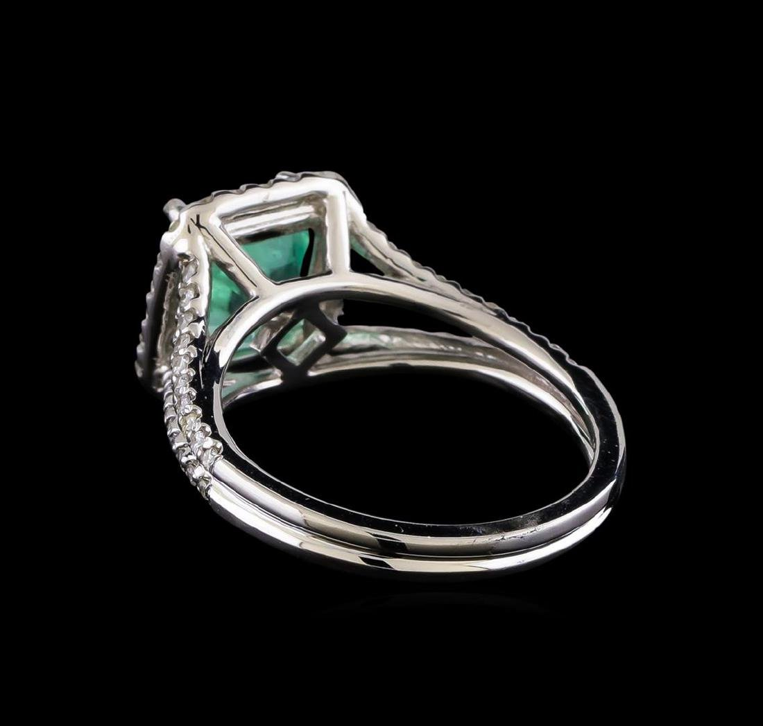 2.33 ctw Emerald and Diamond Ring - 14KT White Gold - 3