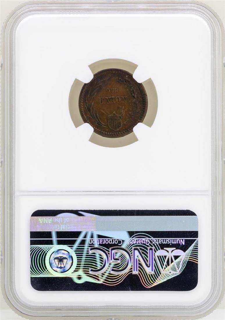 1863 Civil War Token Union Must Be Preserved NGC MS61BN - 2