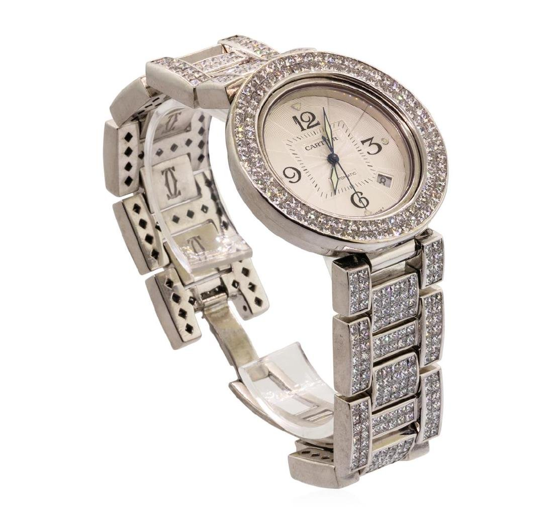 Cartier Men's Pasha Wristwatch with Custom Diamonds -