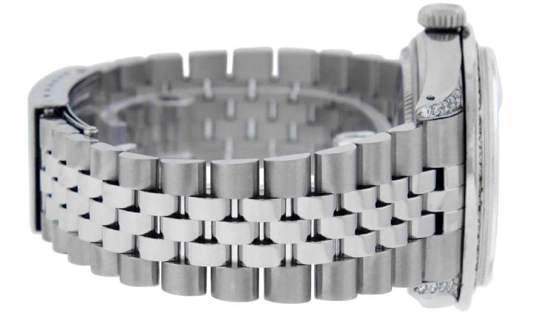 Rolex Mens SS MOP Diamond Lugs & Princess Cut Diamond - 3