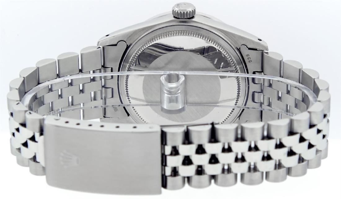 Rolex Mens SS MOP Diamond Lugs & Princess Cut Diamond - 4