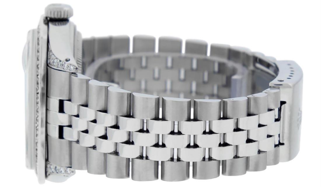 Rolex Mens SS MOP Diamond Lugs & Princess Cut Diamond - 5