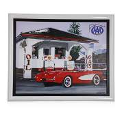 """""""Vette Fuels Up"""" by Harold Cleworth"""