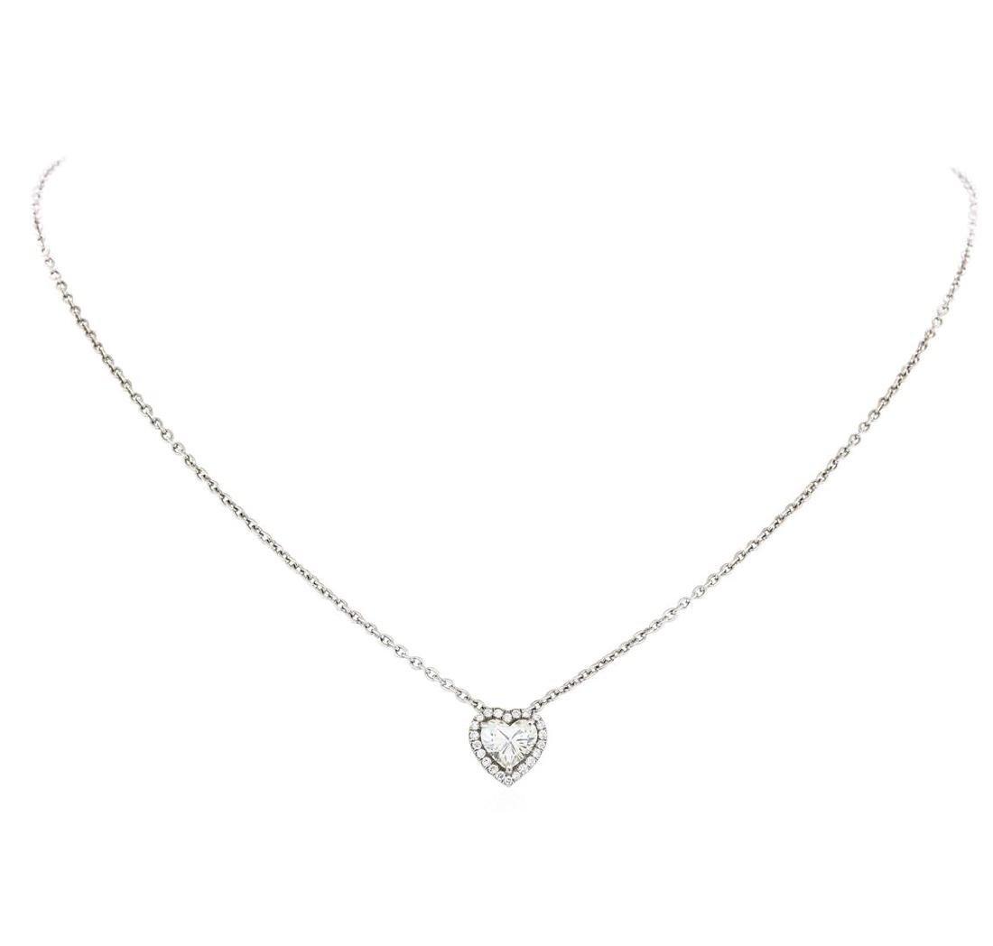 1.44 ctw Diamond Pendant & Chain - Platinum