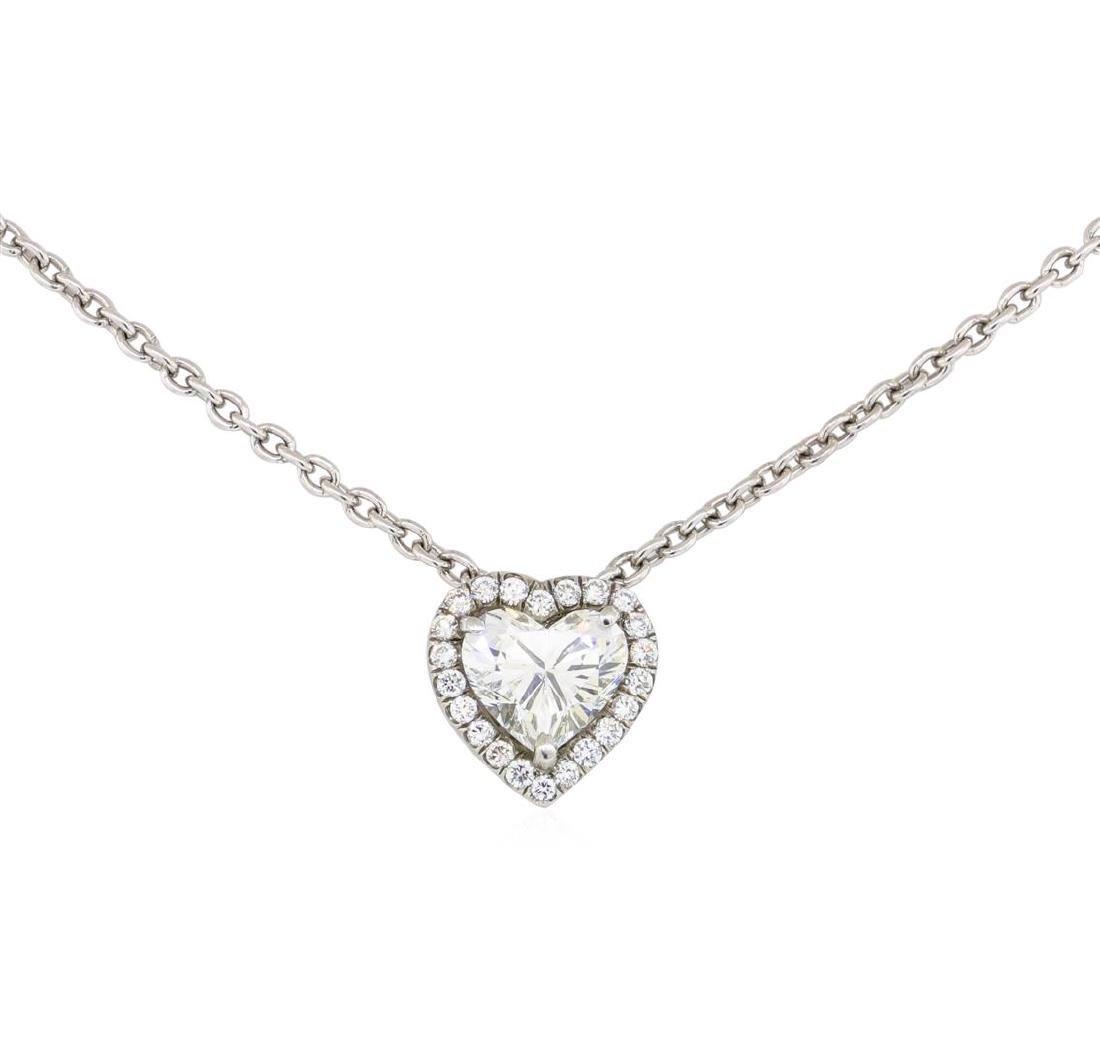 1.44 ctw Diamond Pendant & Chain - Platinum - 2