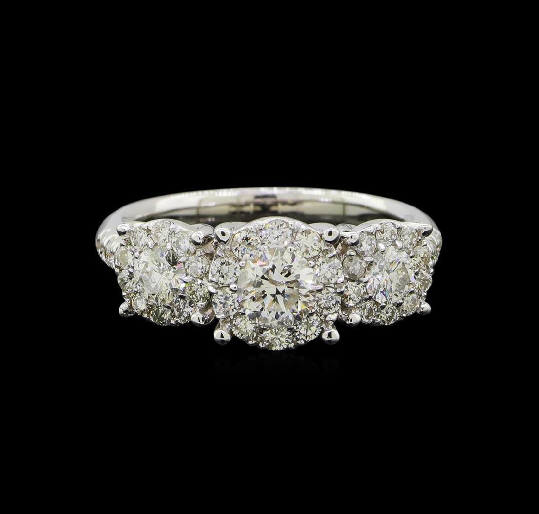1.54 ctw Diamond Ring - 14KT White Gold - 2