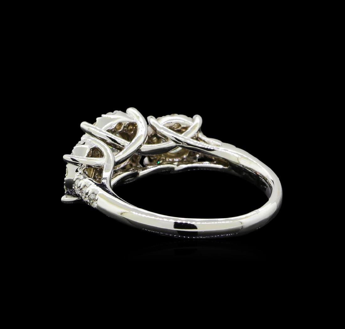 1.54 ctw Diamond Ring - 14KT White Gold - 3