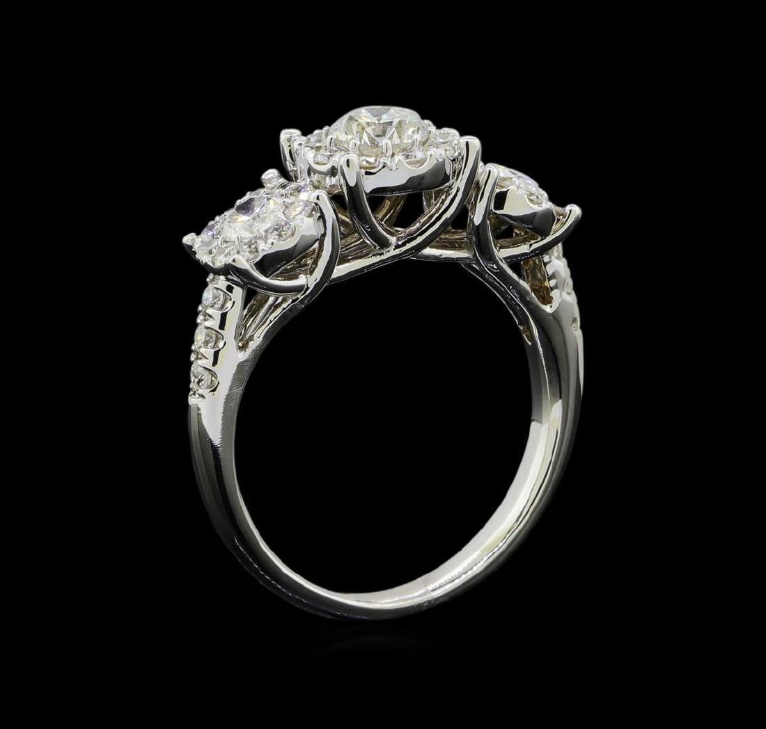 1.54 ctw Diamond Ring - 14KT White Gold - 4
