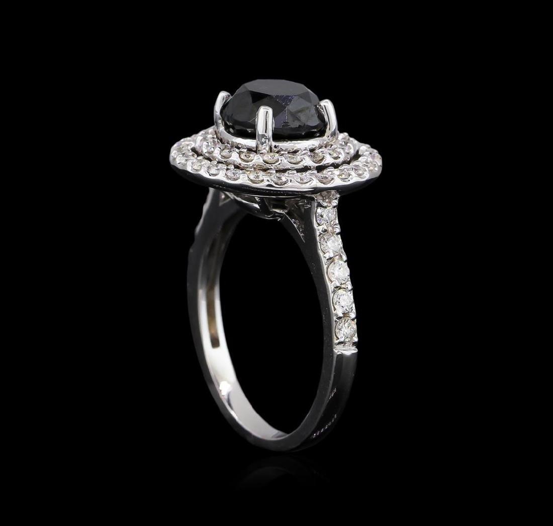 3.36 ctw Black Diamond Ring - 14KT White Gold - 4