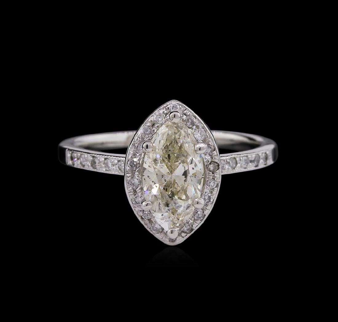 1.15 ctw Diamond Ring - 14KT White Gold - 2