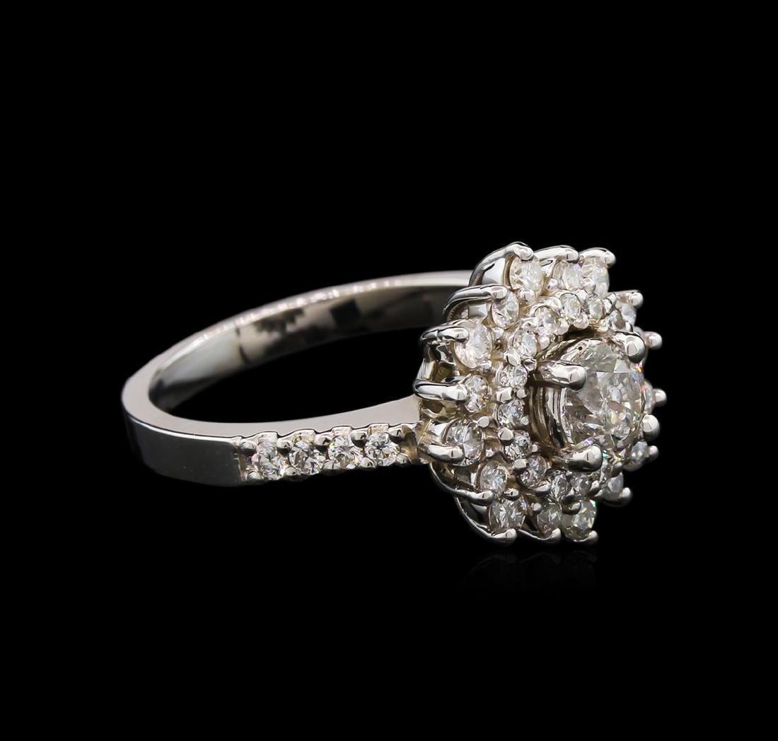 1.19 ctw Diamond Ring - 14KT White Gold - 2