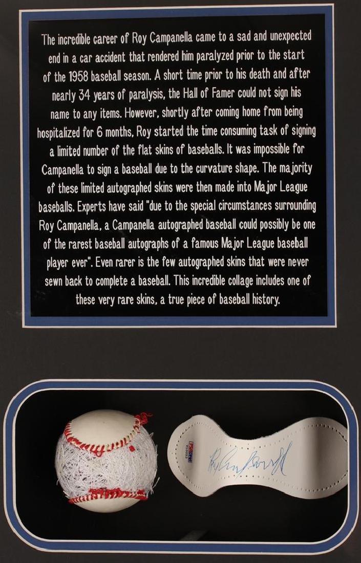 PSA Certified Roy Campanella Framed Autographed - 3