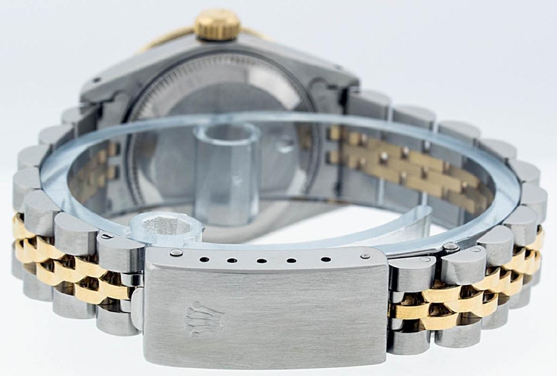 Rolex Ladies 2 Tone 14K Black Diamond Bezel & 1 ctw - 6