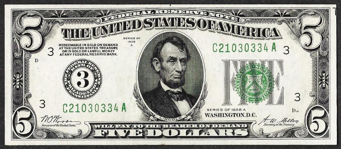 1928A $5 Federal Reserve Note Philadelphia