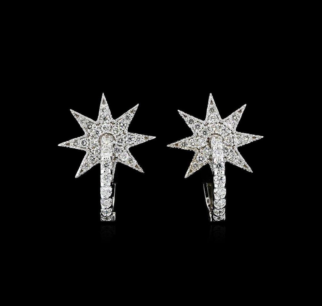 0.65 ctw Diamond Earrings - 14KT White Gold