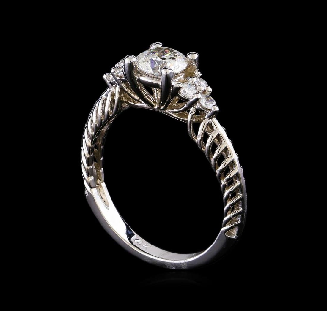 0.90 ctw Diamond Ring - 14KT White Gold - 4