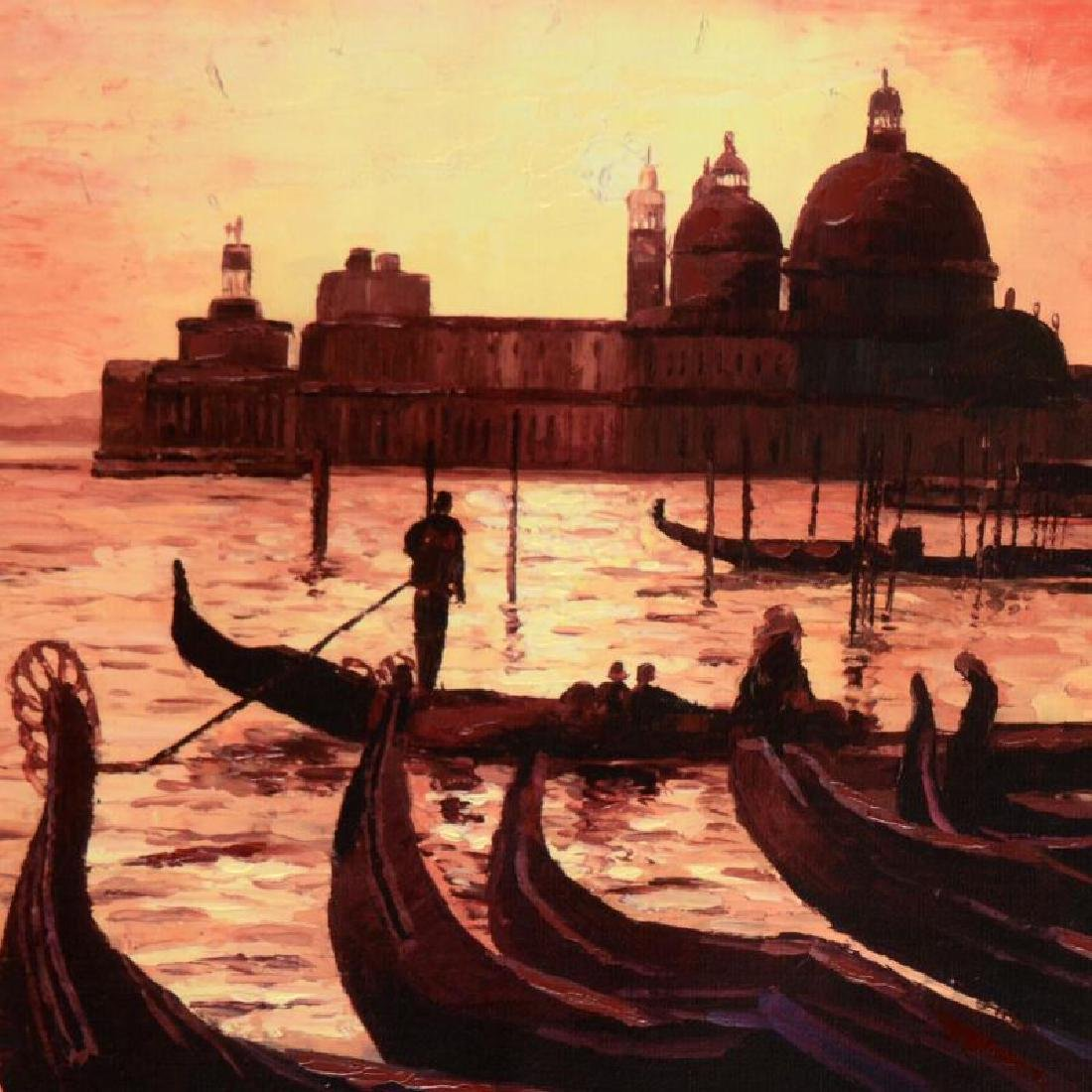 Sunset on the Grand Canal 3 by Behrens (1933-2014) - 2