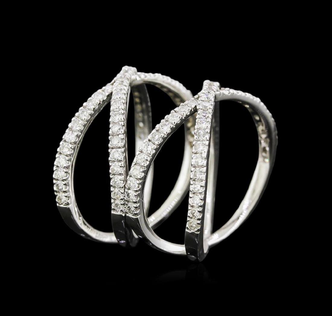 0.95 ctw Diamond Ring - 14KT White Gold - 3