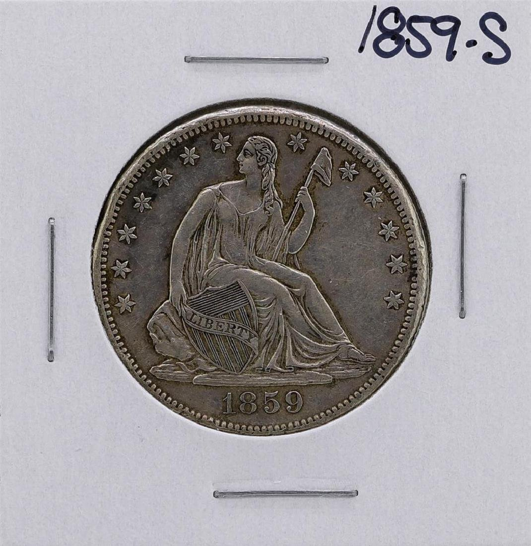 1859-S Seated Liberty Half Dollar Coin