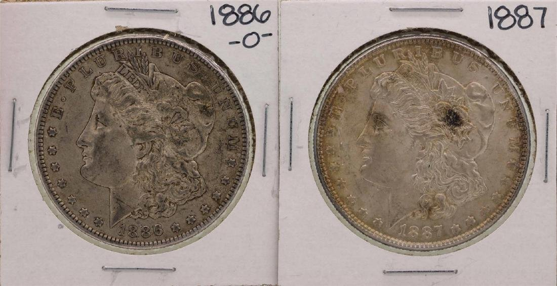 Lot of 1886-O & 1887 $1 Morgan Silver Dollar Coins