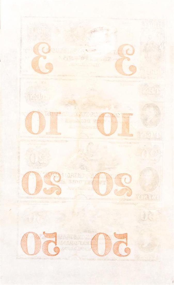 Union Bank of New London Connecticut Uncut Sheet of - 2