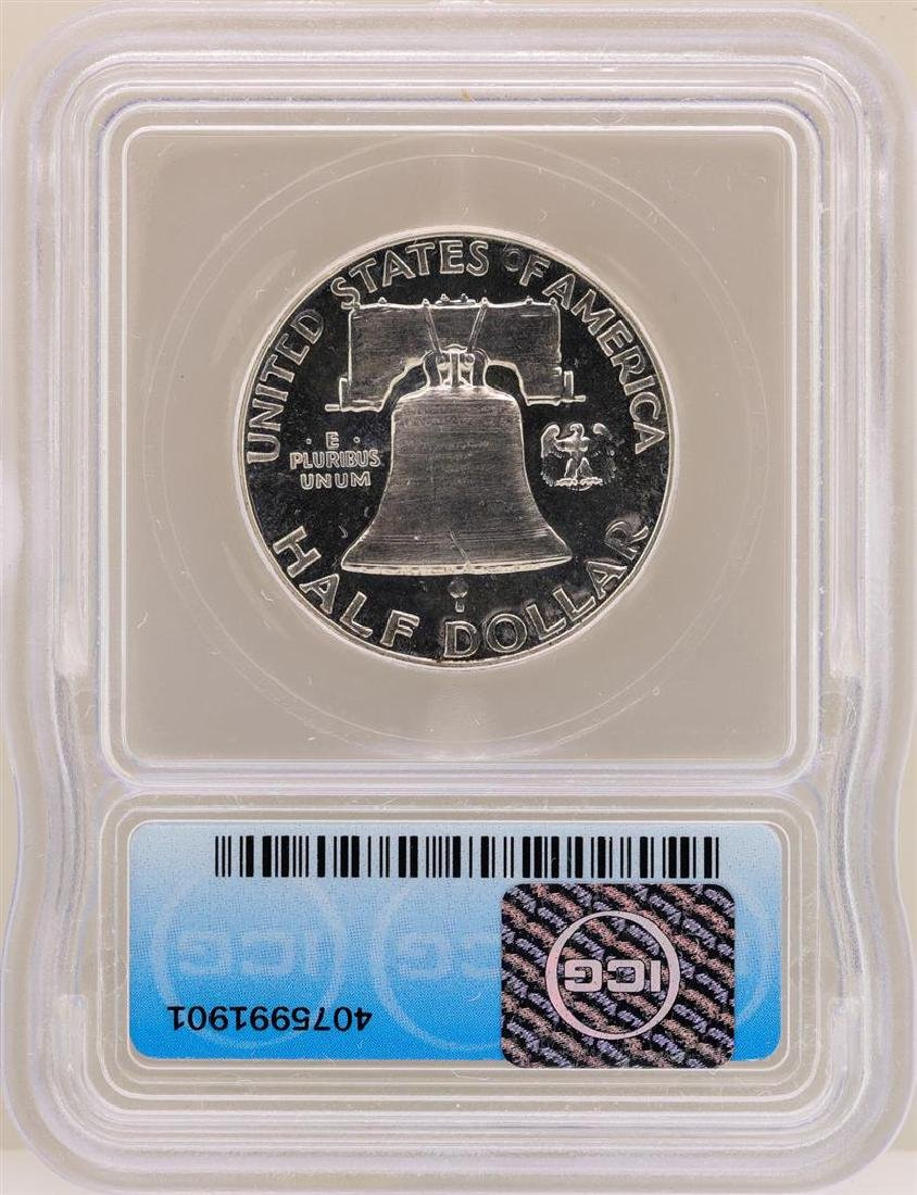 1953 Franklin Half Dollar Proof Coin ICG PR65CAM - 2