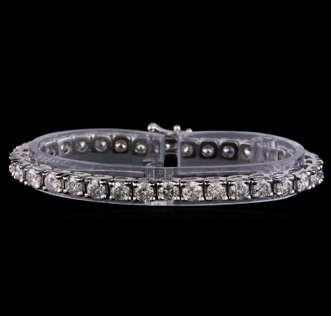 10.35 ctw Diamond Tennis Bracelet - 14KT White Gold