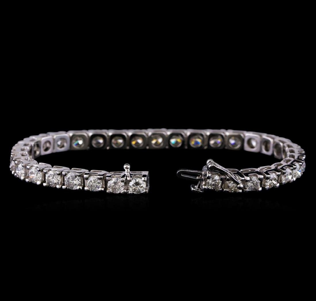 10.35 ctw Diamond Tennis Bracelet - 14KT White Gold - 3
